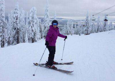 Elise Everest on Ski hill
